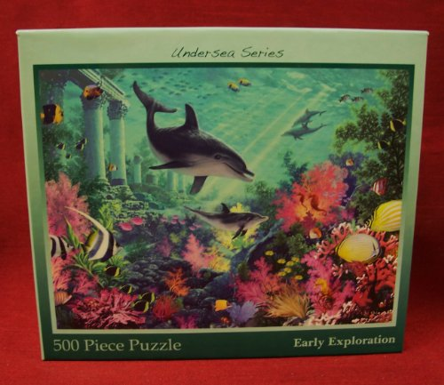 500-piece Jigsaw Puzzle from the UnderSea Series: EARLY EXPLORATION (dolphins)