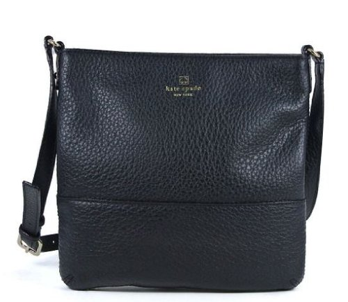 Kate Spade Leather Cora Southport Avenue Crossbody Bag Black front-1070612