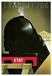 Exactitude Poster, French, Art Deco Travel Poster, Train