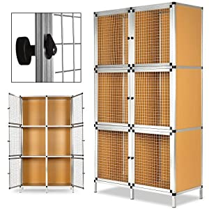 clapier lapin 6 boxes rongeurs aluminium 6x cage pour. Black Bedroom Furniture Sets. Home Design Ideas