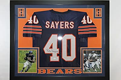 Gale Sayers Framed Autographed Chicago Bears Jersey JSA COA