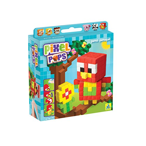 The Orb Factory Pixel Pops Parrot Building Kit