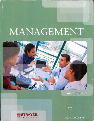 Understanding Management 9th Edition by Daft and Marcic Solution Manual