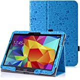 MoKo Samsung Galaxy Tab 4 10.1 / Tab 4 Nook 10.1 2014 Funda - Slim Soporte Funda para Samsung Galaxy Tab4 10.1 Inch Tablet, Cutie Charm AZUL (Con Cierre Magnético Para Reposo Automático / NO va a caber el Tab 3 10.1)