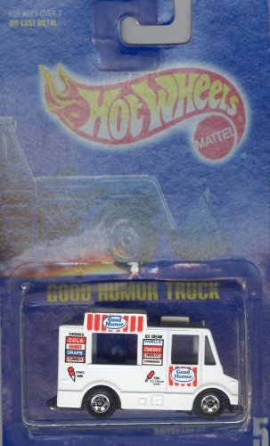 Hot Wheels 1991 5 WHITE GOOD HUMOR TRUCK ALL BLUE CARD 1:64 Scale Die-cast Collectible Car