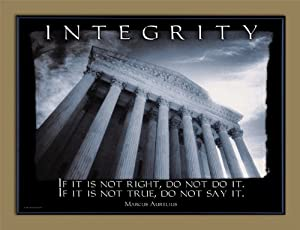 Character Education: Integrity Framed Motivational Poster. Guidance Art Print