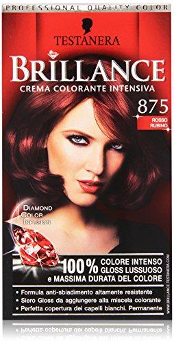 Testanera - Brillance, Crema Colorante Intensiva, 875 Rosso Rubino