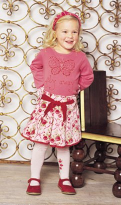 Baby Lulu Ribbon Rose Fifi Butterfly Tee - Buy Baby Lulu Ribbon Rose Fifi Butterfly Tee - Purchase Baby Lulu Ribbon Rose Fifi Butterfly Tee (Baby Lulu, Baby Lulu Apparel, Baby Lulu Toddler Girls Apparel, Apparel, Departments, Kids & Baby, Infants & Toddlers, Girls, Shirts & Body Suits)