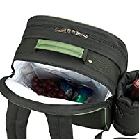 Picnic at Ascot - Deluxe Equipped 2 Person Picnic Backpack with Cooler & Insulated Wine Holder - Navy from Picnic at Ascot