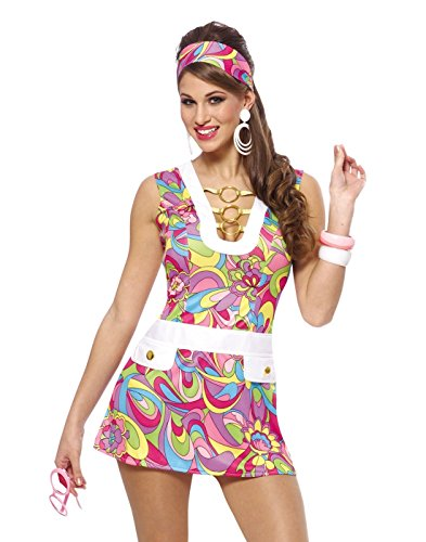 Costume Culture Women's Groovy Chic Costume, Pink, Small