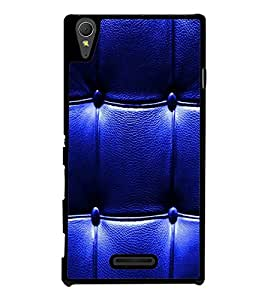 printtech Leather Pattern Back Case Cover for Sony Xperia T3