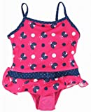 Pink Platinum Toddler Girls Ladybugs Polka Dotted 1 Piece Swimsuit - Fuchsia (2T-4T)