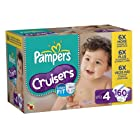 Buy Pampers Cruisers Diapers (Size 4, Economy Pack Plus of 160 Diapers)