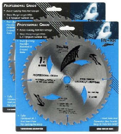 51ZFm8y7qAL Shark Pro series (2 Pack) 7 1/4 inch 40 Teeth Carbide 5/8 arbor hole DKO Thin Kerf ATB Circular Saw Blade Ship FREE buy $50+