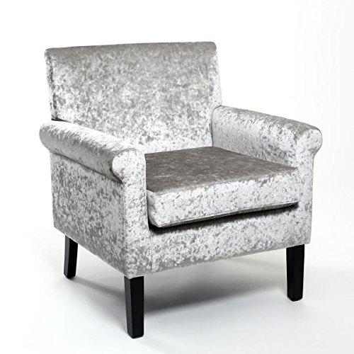 Hamilton Crushed Velvet Silver Armchair