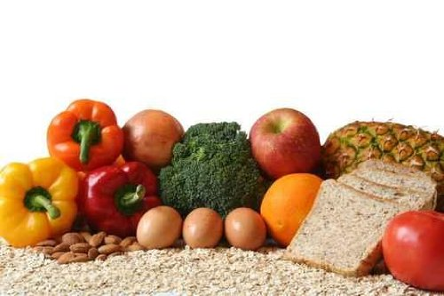 Variety of Foods, Fruits, Vegetables, Whole Grains and Dairy. - 72