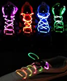 Topcabin LED Shoelaces with Continuous and 2 Blinking Modes in 5 Colors Flash Lighting the Night for Party Hip-hop Dancing (Red)