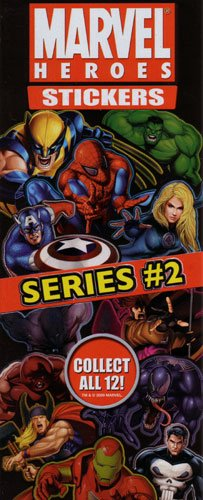 Marvel Heroes Die-cut Stickers Series 2 Set of 12