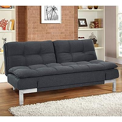 Serta Dream Convertible Boca Sofa - Charcoal