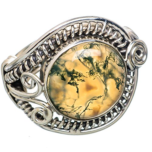Ana Silver Co Green Moss Agate 925 Sterling Silver Ring Size 8.25 RING783930 (Moss Agate Ring compare prices)