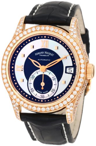 Armand Nicolet Women's 7155V-NN-P915NR8 M03 Classic Automatic Gold with Diamonds Watch