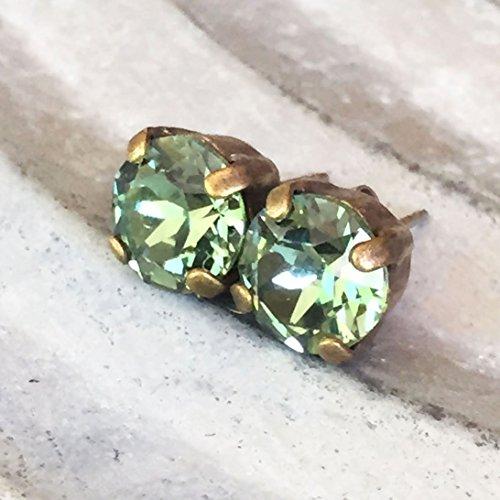 8mm-green-rhinetone-stud-earrings-for-women-swarovski-elements-austrian-crystal-crystallized