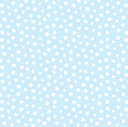SheetWorld Fitted Cradle Sheet - Stars Pastel Blue Woven - Made In USA