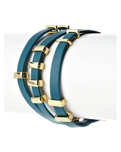 Jules Smith Leather and Metal Wrap Bracelet As You See