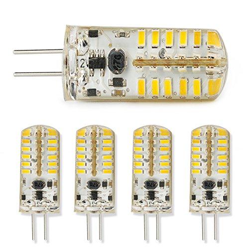 5X G4 2.4W Pin Base Led Bulbs Spot Light Lamp Warm White Ac/Dc 12V Smd 3014 New