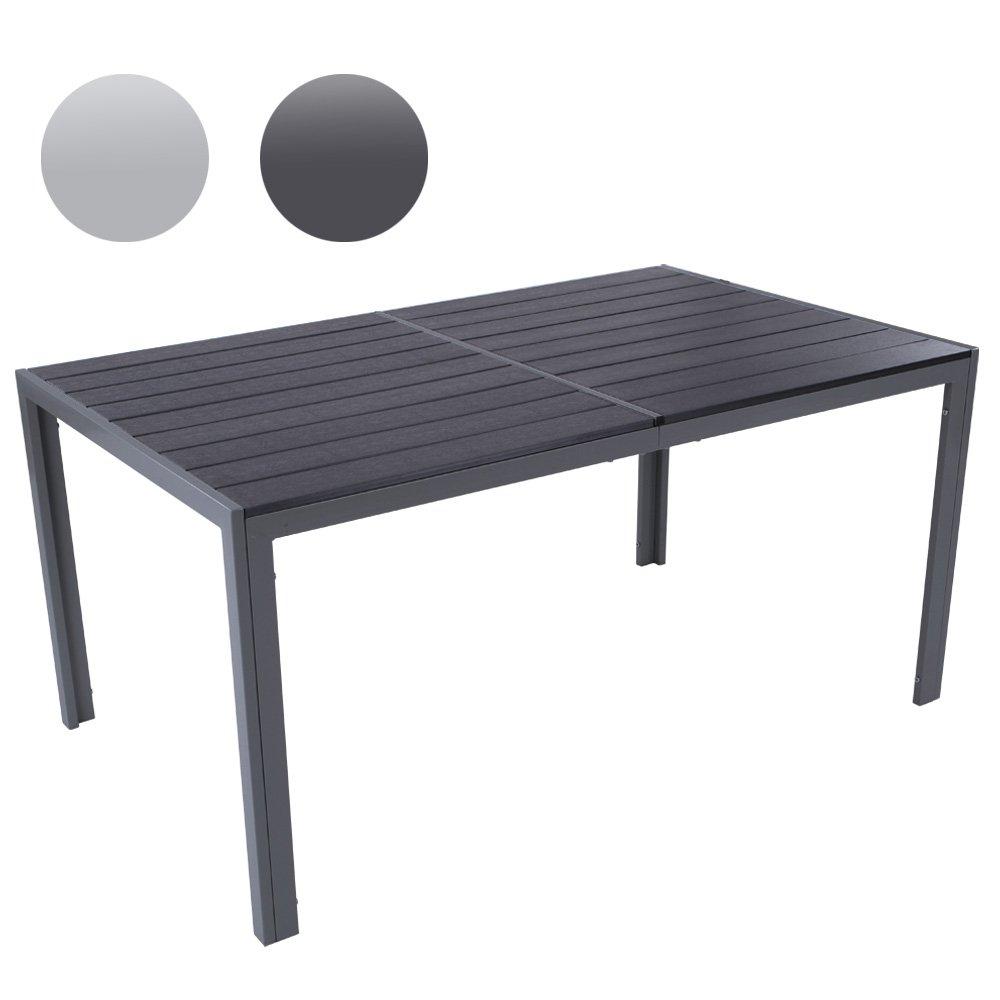 Gartentisch für bis zu 6 Personen, Alu Tisch Witterungs- und UV-beständig (Farbwahl) Gartenmöbel