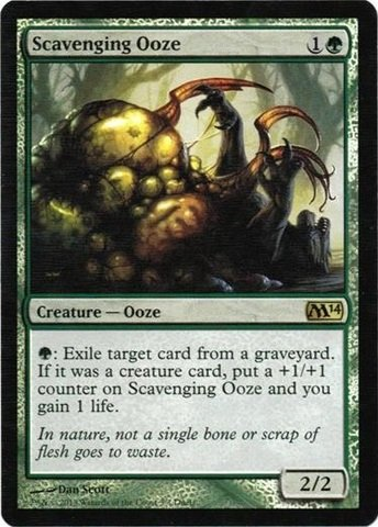 Magic: the Gathering - Scavenging Ooze - Duels of the Planeswalkers 2014 Steam Promo - Unique & Misc. Promos - Foil - 1