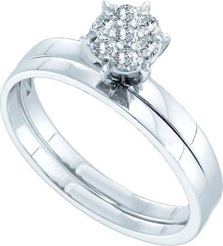 0.12cttw Round Diamond Bridal Set ( Size 7 H-I Color, I1-I2 Clarity)