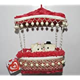 Beautiful Red Parachute Box Hanging Couple Teddy Bears