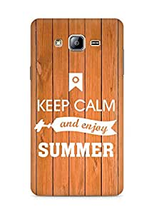 Amez Keey Calm and Enjoy Summer Back Cover For Samsung Galaxy ON5