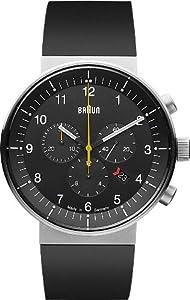 Braun BN0095BKSLBKG - Reloj analógico unisex de caucho negro