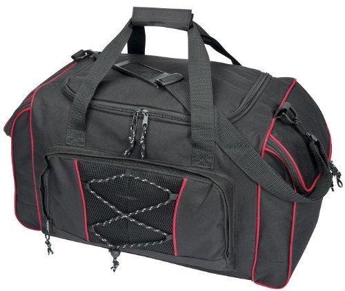 Reisetasche Sporttasche schwarz-rot ca. 57x30x32cm