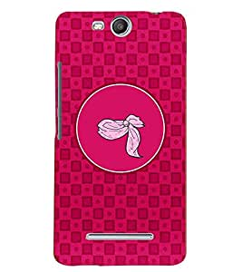 PRINTVISA Abstract Pink Pattern Case Cover for Micromax Canvas Juice 3 Q392
