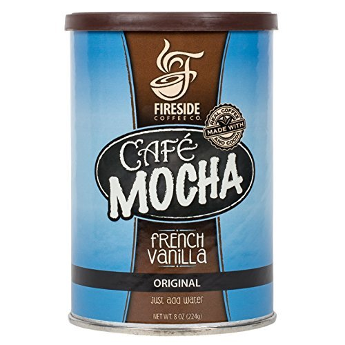 Fireside Coffee Cafe Mocha Instant Flavor Coffee 8 Ounce Canister -French Vanilla (Instant Flavor Coffee compare prices)