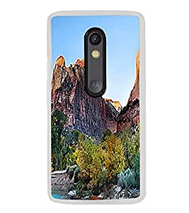Sunset Mountains 2D Hard Polycarbonate Designer Back Case Cover for Motorola Moto X Play