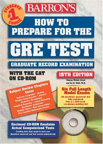 How to Prepare for the GRE Test with CD-ROM (Barron's GRE (W/CD))