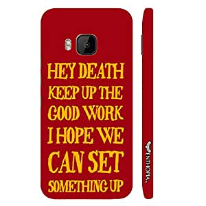 HTC One M9 Message to Death designer mobile hard shell case by Enthopia