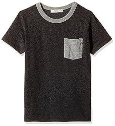 Fox Baby Boys' T-Shirt  (Black Melange_12-18 months_327607)