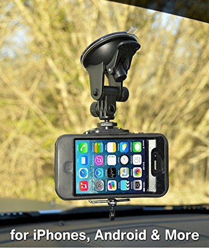 Smartphone - Cell Phone Windshield Car Mount Holder for iPhone SE 7 7 Plus 6S 6S Plus 6 6 Plus 5S 5C 5 4S 4 Samsung Galaxy S7 Edge S7 S6 S5 S4 S3 S2 and more by Davoice