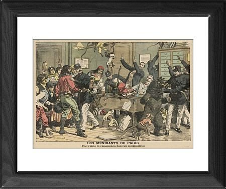 Framed Print of Paris Police/entertainer from Mary Evans