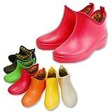 【ノーブランド品】【大きな靴 大きなサイズ】【3Lもございます】【純国産】レディースガーデニング風ショート レインブーツ レインシューズF-3