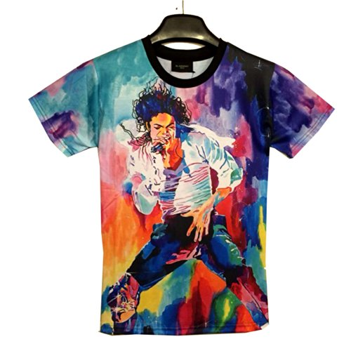 King of Pop Michael Jackson Shirt MJ Short Sleeve T Shirt (XXL)