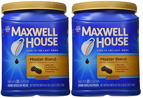 Maxwell House Master Blend Custom Roasted Full Flavor Cofe Container 44.5 Ounces (2-Pack) (Maxwell House Master Blend compare prices)