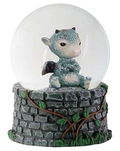 3.5 Inch Cold Cast Resin Sulky Baby Dragon Water Snow Globe Figurine (Resin Dragon Baby compare prices)