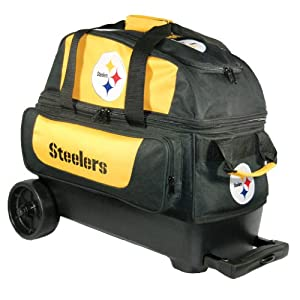 NFL Double Roller Bowling Bag- Pittsburgh Steelers by KR Strikeforce Bowling Bags