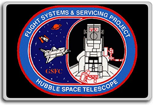 Hubble Flight Systems And Servicing Project - Miscellaneous Space Shuttle Patches Insignia fridge magnet (Space Shuttle Magnet compare prices)